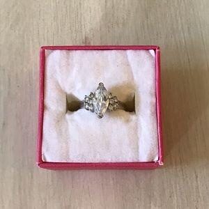 Vintage teardrop ring